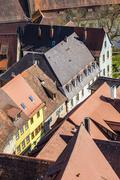 red shingle roofs in Rothenburg ob der Tauber - stock photo