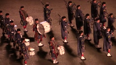 Bagpipes band. no audio Stock Footage