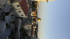 Vertical shot of Tracking time-lapse of Jerusalem and the Dome of the Rock at Stock Footage
