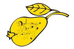 pear fruit - stock illustration