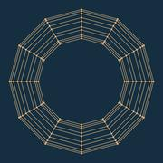 Abstract vector decorative frame. Mesh poligonal. Molecular lattice. The Stock Illustration