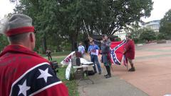 Confederate Flag Rally, Singing Dixie, U.S. Capitol Stock Footage