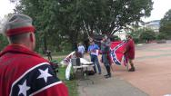 Stock Video Footage of Confederate Flag Rally, Singing Dixie, U.S. Capitol