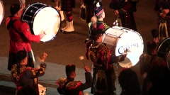Scotland traditions. Bagpipes military parade - audio. Edinburgh Castle Stock Footage