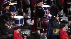 3. Scottish military parade . Dancers . Bagpipes. Audio Stock Footage