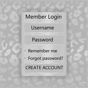 Mobile vector Universal UI Kit form interface for mobile user interface. leopard Stock Illustration