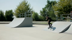 Super awesome kickflip Stock Footage