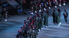 Scotland. Bagpipes military parade. audio Stock Footage