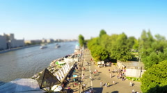 Gorky park aerial view timelapse Stock Footage