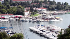 VRSAR, ISTRIA - AUG. 2015. Boat Coast Marina - stock footage