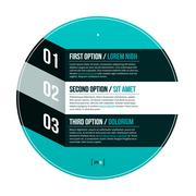 Modern hipster layout with three options in circle. EPS10. - stock illustration