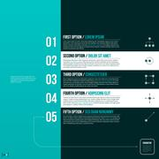 Modern layout with five numbered options. EPS10. Stock Illustration