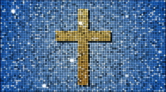 The Christian cross symbol - seamless looping Stock Footage