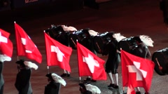 N. 5 Swiss military parade . Drums and great performance. Audio Stock Footage