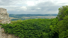 View from the Chojnik castle at Jeleniogorska valley Stock Footage