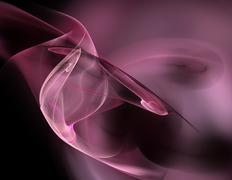 Abstract fractal background pink - stock illustration
