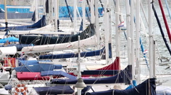 VRSAR, ISTRIA - AUG. 2015. Boat Dock Marina Detail - stock footage
