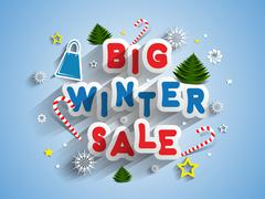 Winter Sale - stock illustration