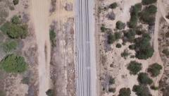 View of the railway from satellite - stock footage