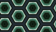 Stock Illustration of Colorful hexagon pattern. Cute ornament. Different colored geometrical figures