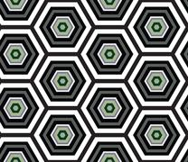 Hexagonal seamless pattern. Abstract honeycomb pattern shades of green - stock illustration