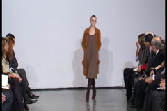 Fashion models walking on runway for Halston Collection Stock Footage