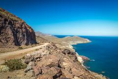 Coast at Cabo del Gata, Almeria, Spain Stock Photos