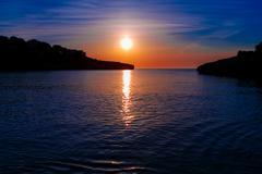 Sea sunset in the rocks, malta - stock photo