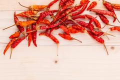 Dried Chili background for menu design and advertising campaign. Stock Photos