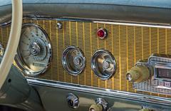 Dashboard retro car - stock photo