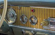 Stock Photo of Dashboard retro car
