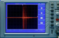 Oscilloscope display Stock Photos