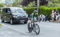 The Cyclist Yukiya Arashiro - Tour de France 2014 Stock Photos