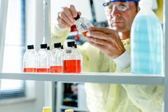 Growing bioculture in the laboratory Stock Photos
