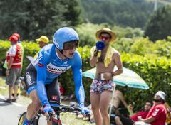 The Cyclist Benjamin King - Tour de France 2014 - stock photo