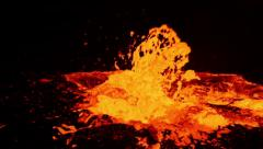 Lava bubbles of Volcano Erta Ale, Ethiopia Stock Footage