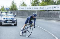 The Cyclist Jon Izagirre Insausti - Tour de France 2014 - stock photo