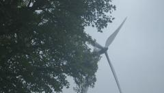 Windmill on cloudy sky (Canon Log) - stock footage