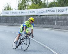 The Cyclist Nicolas Roche - Tour de France 2014 Stock Photos