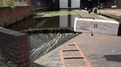 Canal lock detail, Birmingham and Fazeley canal. Stock Footage