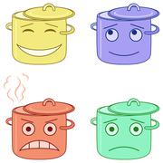 Pans smilies Stock Illustration