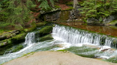 Natural water cascade in a forest Stock Footage