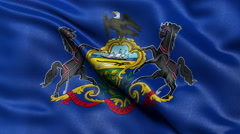4K Pennsylvania state flag seamless loop Ultra-HD Stock Footage