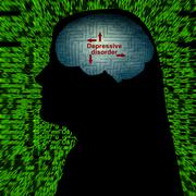Depressive disorder maze concept - stock illustration