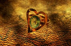 Heart shaped ring grunge concept Stock Illustration