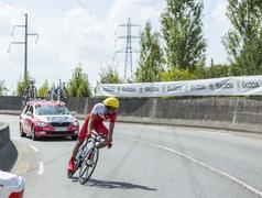 The Cyclist Mate Mardones - Tour de France 2014 Stock Photos