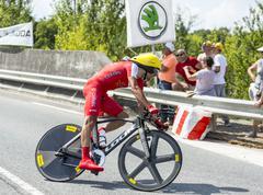 The Cyclist Mate Mardones - Tour de France 2014 - stock photo