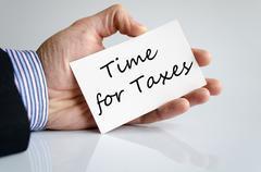 Time for taxes text concept Stock Photos
