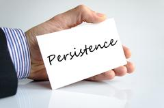 Persistence text concept - stock photo