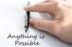 Anything is possible text concept - stock photo